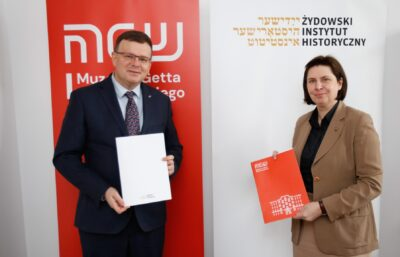 Cooperation agreement between the Emanuel Ringelblum Jewish Historical Institute and the Warsaw Ghetto Museum