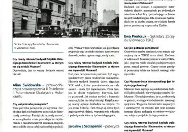 """Muzeum Getta Warszawskiego w styczniowym """"Słowie Żydowskim""""."""