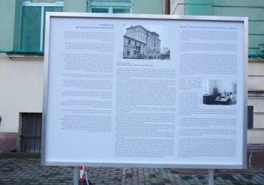 Tablice edukacyjne w Szpitalu Bersohnów i Baumanów