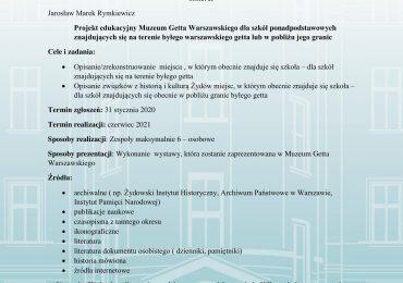Projekt edukacyjny MGW