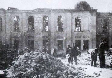 """""""Nagle wybuchł jasny płomień, który bił w okna…"""" Spalenie Wielkiej Synagogi w Białymstoku"""