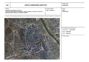 Teren getta warszawskiego w gminnej ewidencji zabytków